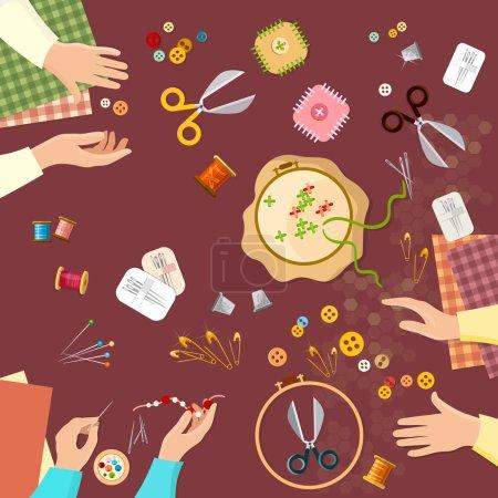 Tailor seamstress fashion designer needlework