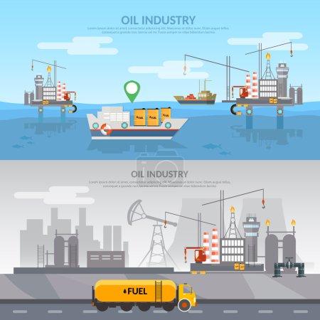 Oleju przemysłu Banner