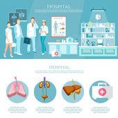 Medicína infografiky nemocniční personál zdravotnictví