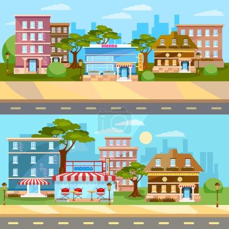 City background cityscape banner town landscape