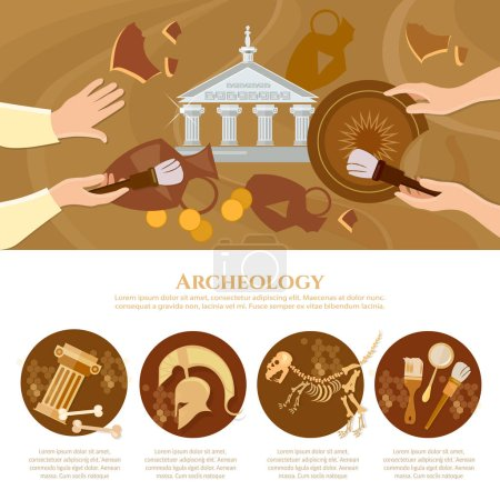 Archaeological excavation infographics