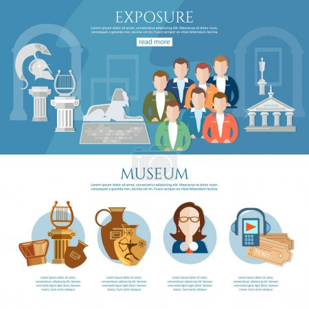 Museum infographics history and culture of civilization