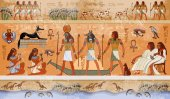 Ancient Egypt scene mythology Egyptian gods and pharaohs