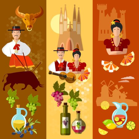 Spain banner traditions and culture spanish attractions
