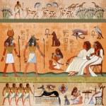 Ancient egypt scene. Murals ancient Egypt. Hierogl...