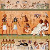Ancient egypt scene Murals ancient Egypt Hieroglyphic carvings