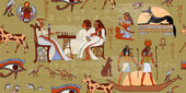 Ancient Egypt seamless pattern Murals ancient Egypt