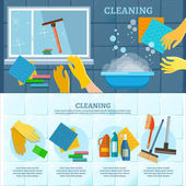 Cleaning service infographic Washing windows home cleaning