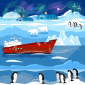 Travel to Antarctic and Arctic Ice breaker penguins