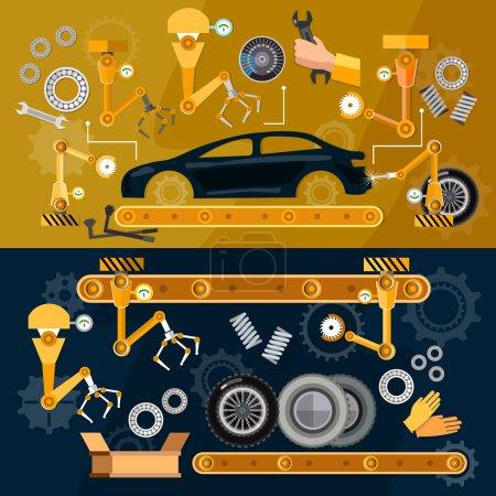 Car assembly line  auti conveyor belt