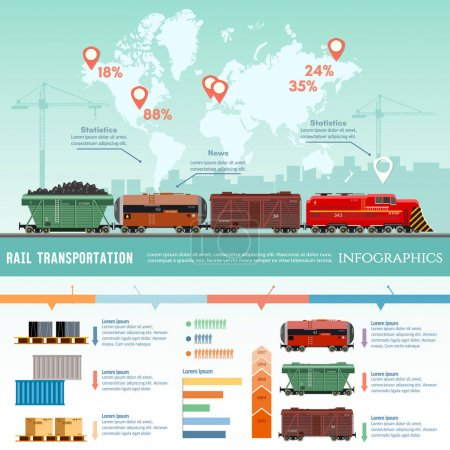 Cargo train, global transport logistics
