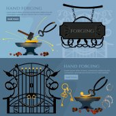 Forging on gland creation of iron fencings and fences