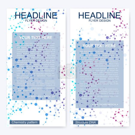 Leaflet flyer layout. Magazine cover corporate ide...