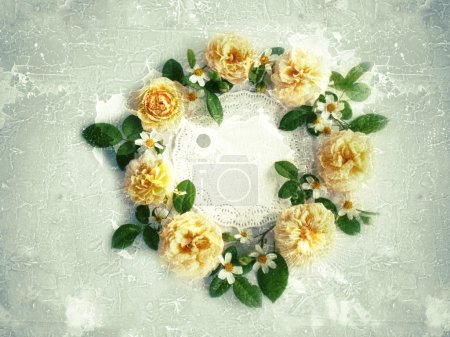 Beautiful rose flower on vintage background