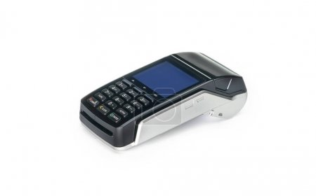 Photo for Payment terminal, compact POS terminal - Royalty Free Image