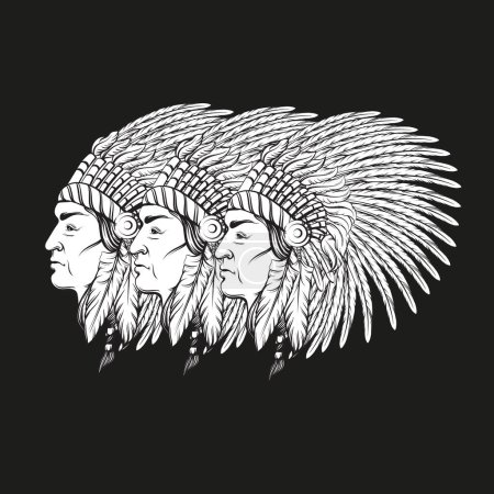 Vector hand drawn realistic illustration of Indian...
