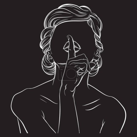 Creative vector illustration of woman