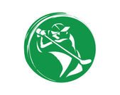 Modern Golf Logo - Professional Green Golf Symbol Circle