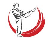 Passionate Aggressive Young Taekwondo Athlete In Action Logo