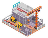 Modern Isometric Construction Site Progress Illustration Suitable For Infographic Games Children Books And Other Graphic Related Assets