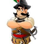 Cartoon Spanish conquistador. Set mascots....