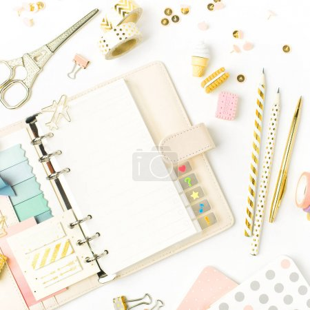 Photo for Monthly planner and School stationery. back to school concept. - Royalty Free Image