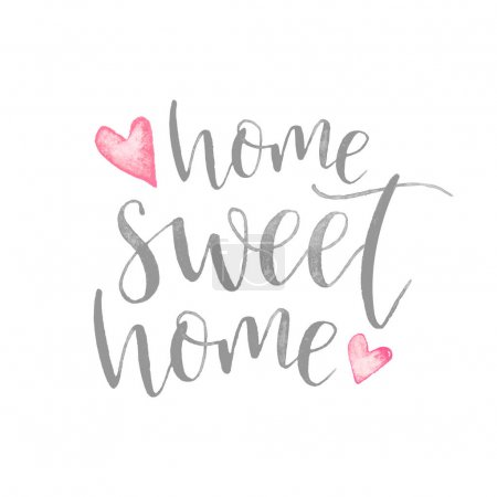 Photo for Home sweet home lettering on white background - Royalty Free Image
