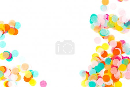 colorful round confetti