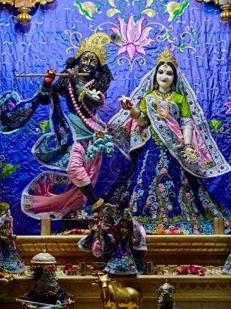 Deities in Sri Krishna Balaram Mandir Temple of Vrindavan