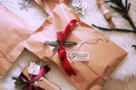 Photo for Studio holiday photo of beautiful Christmas present - Royalty Free Image