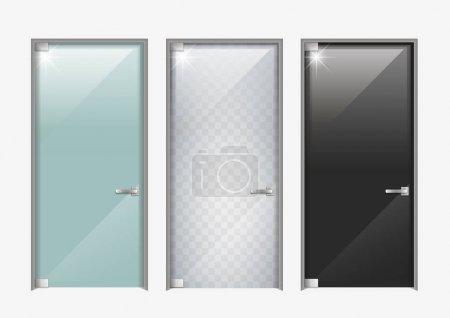 Modern doors made of glass