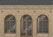 Brick facade with arches