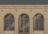 Brick facade with arches