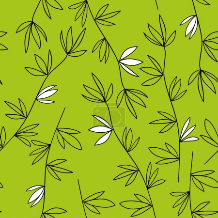 Green vegetable seamless pattern