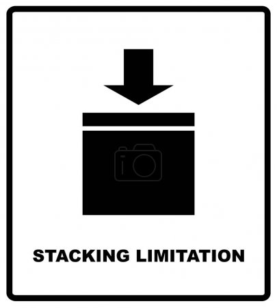 Stacking Limitation by Mass vector packaging symbol on vector cardboard background. Handling mark on craft paper background. Can be used on a box or packaging