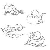 Sleeping baby set