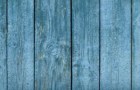 Photo for Old wooden surface of the strips and planks from paint and cracked - Royalty Free Image