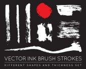 Set of Vector Pen Ink Brush Strokes Grunge Ink Brush Stroke Dirty Brush Stroke
