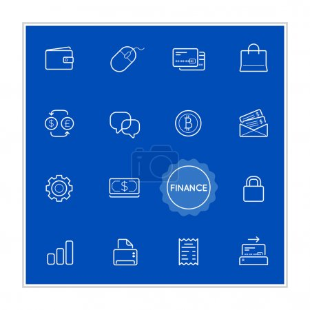 Illustration for Set of Finance Money Vector Illustration Elements can be used as Logo or Icon in premium quality - Royalty Free Image