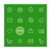 Set of Travel Holiday Vector Illustration Elements
