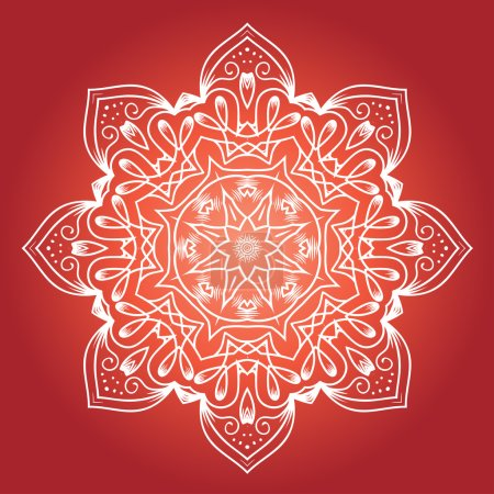 Illustration for Ethnic Fractal Meditation Mandala, Vector - Royalty Free Image