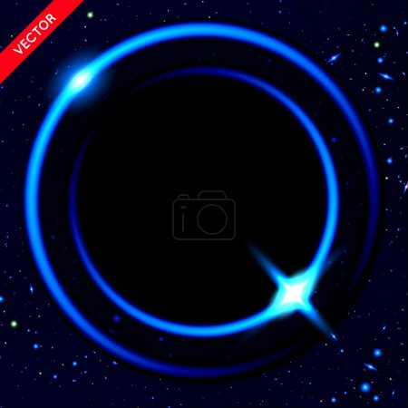 Illustration for Vector Abstract Background with Luminous Swirling Backdrop. Energy Flow. - Royalty Free Image