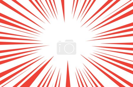 Illustration for Sun Rays for Comic Books Radial Background Vector - Royalty Free Image