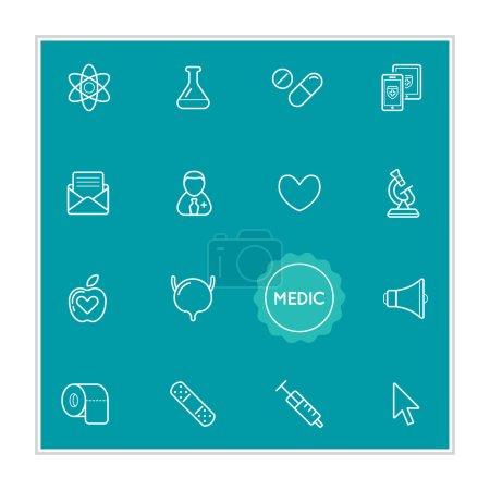 Illustration pour Ensemble d'éléments d'illustration vectorielle d'hôpital médical peut être utilisé comme logo ou icône dans la qualité supérieure - image libre de droit