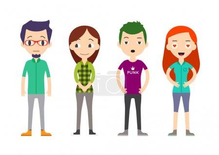 Diverse Vector People Set. Men and women