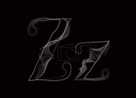 Haze font type letters ZZ