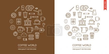 Set of Coffee Modern Icons