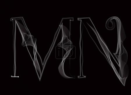 Haze font type letters MN