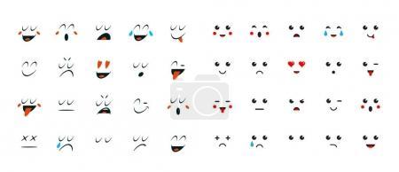 Illustration pour Ensemble d'émoticônes ou d'émoticônes pour les appareils. Illustration vectorielle . - image libre de droit