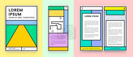 Set of Visual identity in Flat style
